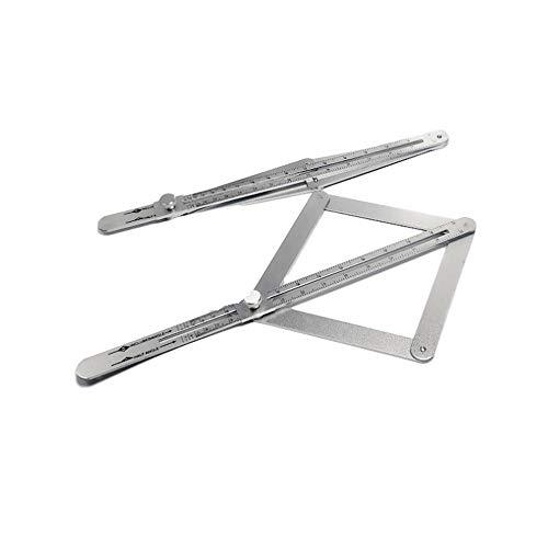lifepower 多機能スケール 角度計 分度器 アルミ合金 防錆に強い 角度目盛り付き 建築用 木工ツール 定規 角度 測定に スライド式 調節可能 折畳可 収納便利 木工測定に