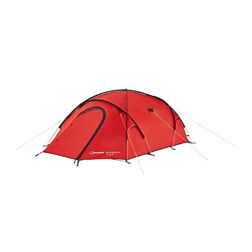 Berghaus Grampian Lightweight Compact All Season 3 Person Tent, Red, One Size