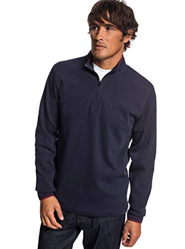 Quiksilver Herren Dead Break Half Zip Sweatshirt, Blau (Parisian Night), Klein