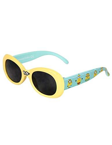 Les Minions - Gafas de sol con funda para niño, unisex, color amarillo y azul amarillo/azul Talla única