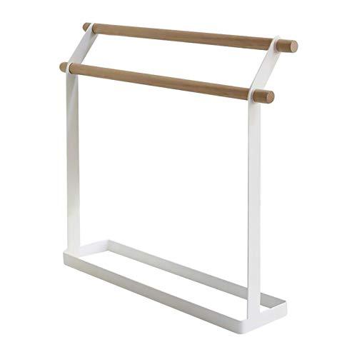 lossomly Toallero de pie para toallas, doble capa, extraíble, de metal, para baño, salón, cocina, dormitorio, 38 x 8 x 32 cm