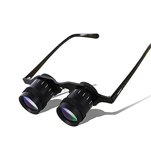 GJHK NBLYW 5X 34 Ultraligero Prismáticos Manos Libres Telescopio, Gafas Portátiles de Alta Definición para Pesca, Avistamiento de Aves Deportes, Conciertos, Teatro, Ópera, TV