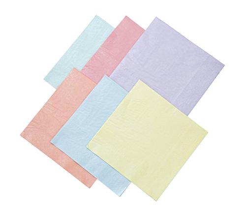 Talking Tables We Heart Pastels, papieren servetten, pastelkleuren, 33 cm (16 stuks in 6 kleuren)