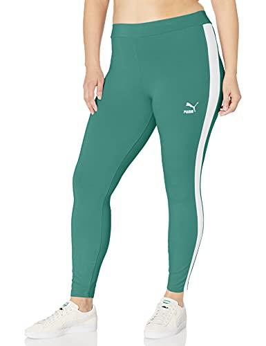 PUMA Women's Plus Size Iconic T7 Leggings, Blue Spruce, 3X