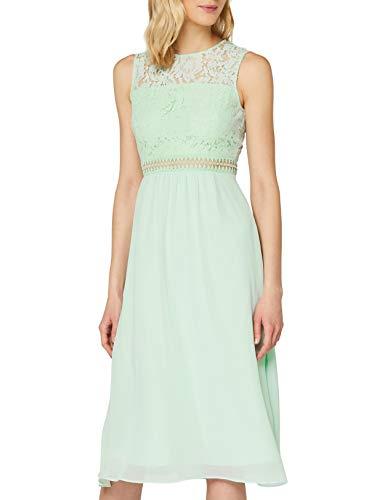 Amazon-Marke: TRUTH & Fable Damen brautkleid, Grün (Celadon Green), 34, Label:XS