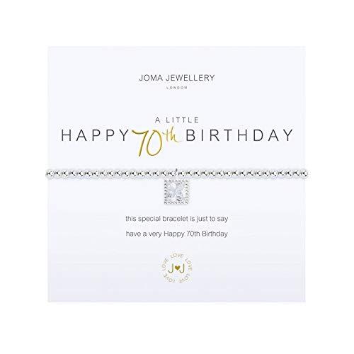 Joma Jewellery a Little Happy 70th Birthday Bracelet
