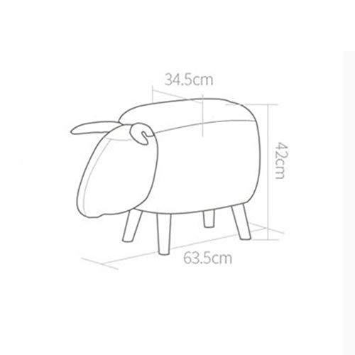 YIZ Modern Meubilair Kinderkruk Sofa Kruk Schapen Stijl W63.5* D34,5* H42Cm B