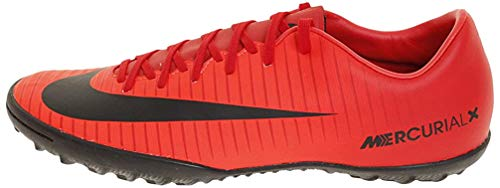 Nike Mercurial X Victory Vi TF 831968, Botas de fútbol Hombre, Rot (Universität Rot/Schwarz-Helles Karmesinrot 616), 42 EU