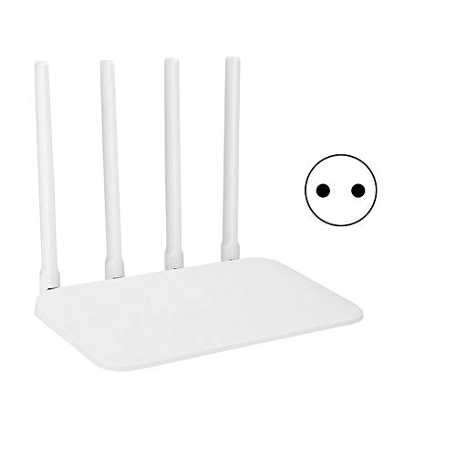 Bewinner MT7621A MIPS Router Wireless High Gain Ethernet Dual High Speed Router für Android iOS, Hochgeschwindigkeits-Router mit Prozessor 2 Drähten mit 4 Drähten (weiß)