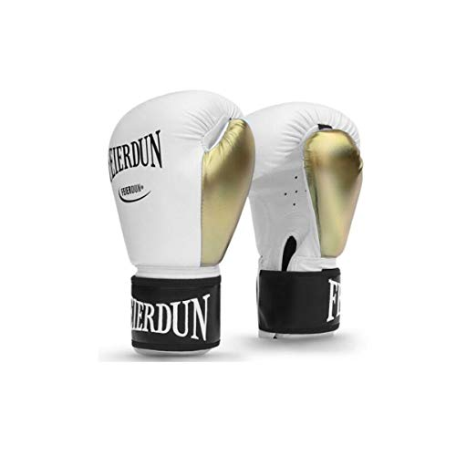 HENGTONGWANDA Boxing Gloves, Special for Sandbags, Adult Fighting Gloves, Sanda Fitness Training Equipment, Platinum (10oz),(1 Pair 2 Pack) - The Best Gift (Color : White-10oz)