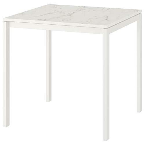DiscountSeller MELLTORP Tisch weiß marmor weiß 75x75 cm langlebig und pflegeleicht bis zu 4 Sitzplätze Esstisch Tische & Schreibtische Möbel Umweltfreundlich