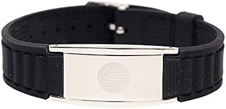 Satori Titanium Magnetic Silicone Power Energy Bracelet (Black), Stylish Therapy Bracelet - Assorted Colors - Unique Gift