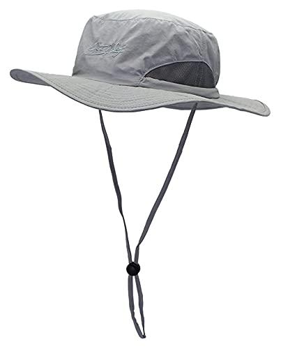 Seupeak Cappello da Sole ellittico Cappello da Sole Traspirante Cappello da Sole Unisex Summer Sunscreen UPF50 + Cappello per Uomini e Donne (Color : Grey)