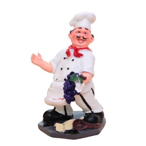SXCV Soporte para Botellas de Vino Resina Estante para Botellas Creativo Estatua de Chef Soporte para Vino Exhibición Artesanías para La Cocina Decoración del Hogar,B