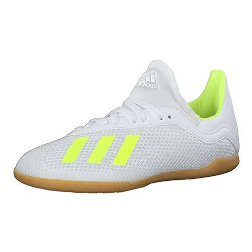 adidas Unisex-Kinder X 18.3 In J Fitnessschuhe, Mehrfarbig (Ftwbla/Amasol/Ftwbla 000), 36 2/3 EU