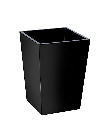 LAQ Design - Papelera cuadrada de madera (20 x 20 x 28 cm)