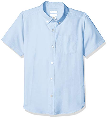 Amazon Essentials Uniform Oxford-Hemd für Jungen, Kurzarm, Oxford Blue, US XL (EU 146 -152 CM, H)