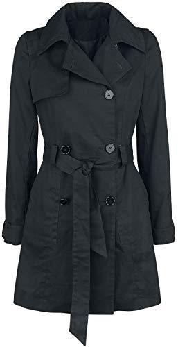 Forplay Cotton Trenchcoat Frauen Kurzmantel schwarz S 100% Baumwolle Basics