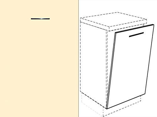 Premium-Ambiente FRT122 Unterschrank Front für Geschirrspüler FE (Breite 45cm-vollintegriert, 53 Vanillegelb)