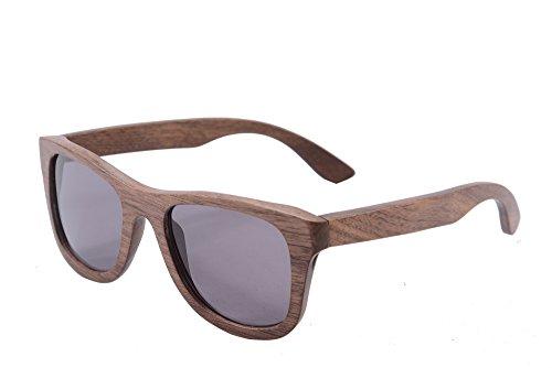 SHINU Polarizadas Gafas de Madera de Bambú Gafas de Sol Lentes de la Vendimia del Templo de Madera y Marco Gafas de Sol con Casos-Z6016