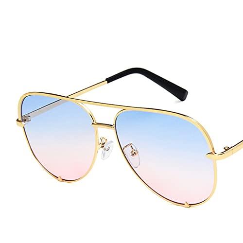 terg Clásico Retro Gafas de Sol Rana Espejo de Lujo de Lujo diseñador de la Marca de la Marca de Doble Haz de Haz de Metal es cómodo de Usar, de Moda y los Colores Modernos Son Varios