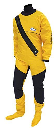 Dry Fashion Damen Herren Trockenanzug Profi-Sailing Regatta, Farbe:gelb, Größe:M