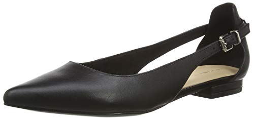 Tommy Hilfiger Damen Feminine Leather Ballerina Pumps, Schwarz (Black Bds), 40 EU