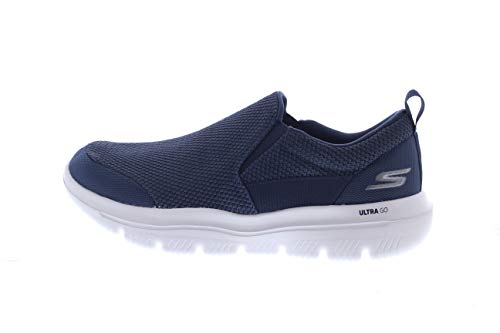 Skechers Men's GO Walk Evolution Ultra-Impeccable Sneaker, Navy/Gray, 10