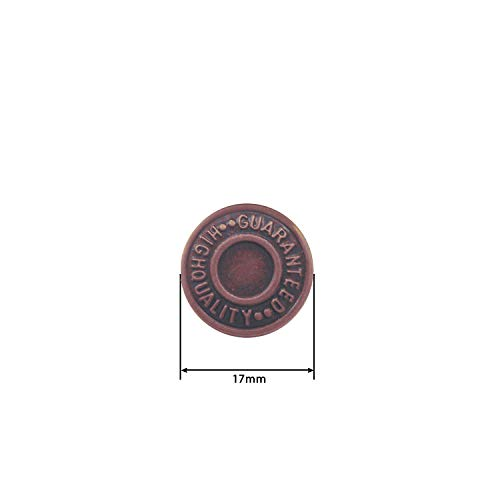 Trimming Shop Botón para pantalones vaqueros latón, 17 mm, resistente, con pasadores traseros, remache para reparación de ropa, denims, chaquetas, faldas, Bronce oscuro, 20piezas