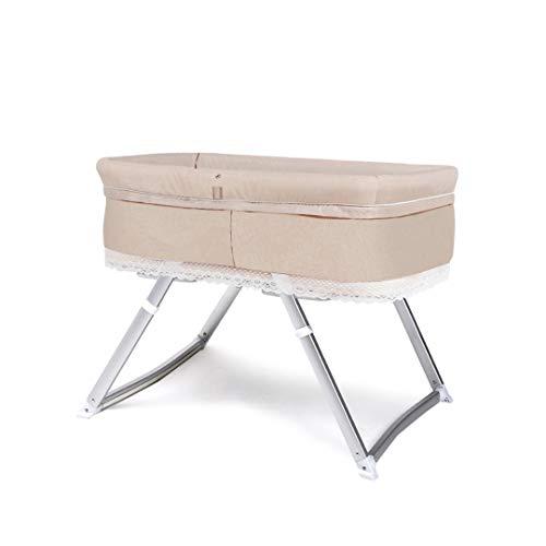 Best Bargain HIZLJJ Baby Side Sleeper Bedside Easy Folding Portable Bassinet with Mosquito Net Mattr...