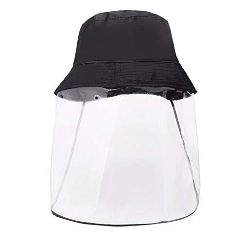 ZXC Fischerhut Mit Visierschutz,Gesichtsschutzschirm Für Naseschutz Augenschutz Staubschutz Ultra Leicht, Verstellbar, Abnehmbar