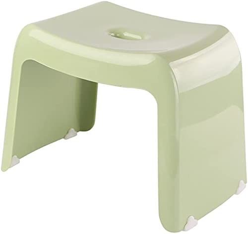 Zeryu Taburete de ducha de plástico, taburete de baño, taburete de ducha, taburete de pie, moderno, seguro, antideslizante, multicolor (verde)