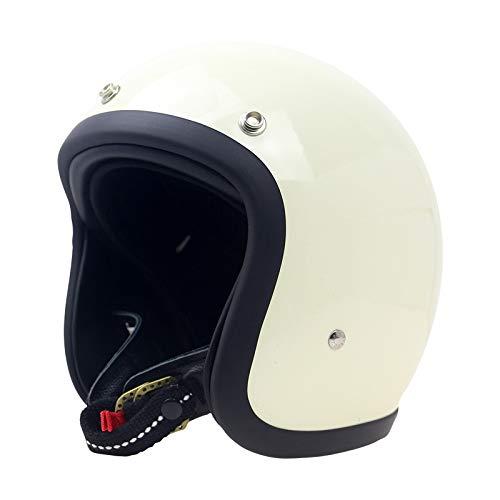 gyl Vintage Helm - Jet Helmet-scooter Helm - 500-TX Afzonderlijke Visors Volwassen Mannen Vrouwen