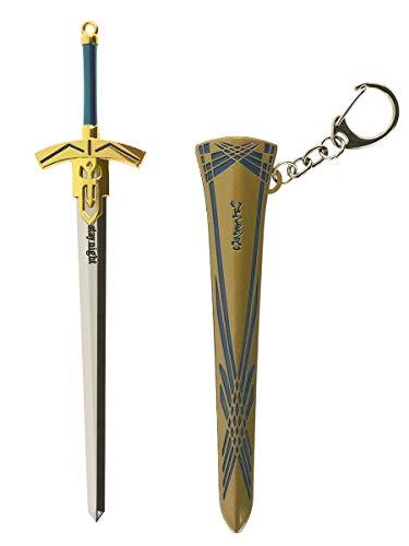 CoolChange Fate / Stay Night Model Excalibur Schwert von Saber, als Deko oder Schlüsselanhänger, Schwertscheide: Messingfarben