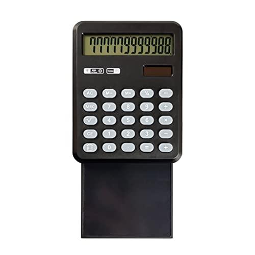 BENO Tableta De Escritura Solar Extraíble LCD Calculadora De Escritura Doodle Pad Tablero De Dibujo Calculadora De 12 Dígitos Pantalla calculadora portatil (Color : 1pcs)
