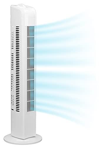 Interior Lifetime Turmventilator leise 78cm - TÜV geprüft - Ventilator Standventilator, niedriger Stromverbrauch, 3 Stufen Turmventilatoren