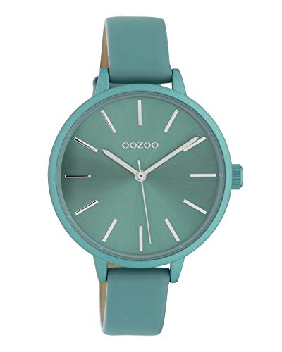 Oozoo Damenuhr mit Lederband Small Color Line 36 MM Türkis C10259