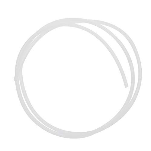 Hemobllo PTFE Teflon Bowden Tube tubo bianco Connettore per stampante 3D Filamento 3mm (3mm id x 4mm od confezione da 2)