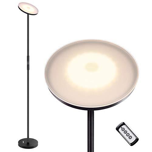 Albrillo Lampada da Terra LED - 20W Piantana Moderna da Terra Dimmerabile con 3 Temperatura di Colore, Telecomando e Interruttore Touch, Lampada da Pavimento per Salotto, Camera da Letto