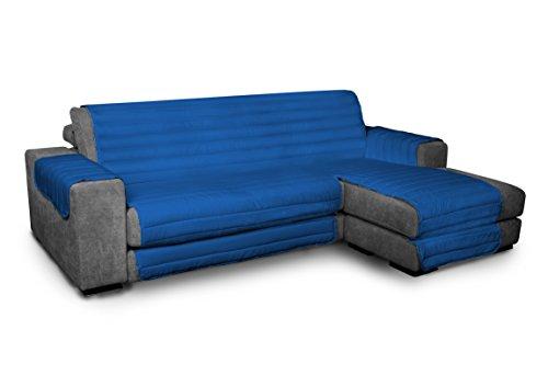 ITALYSWEETHOME Funda de sofá de microfibra con chaise longue adaptable 190 cm,...