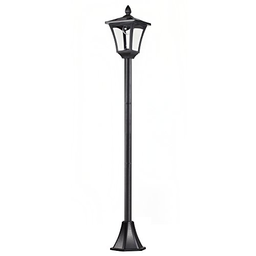 Outsunny Solar Gartenlaterne Laterne Wegleuchte mit LED 40 Lumen Schwarz 18 x 18 x 160cm