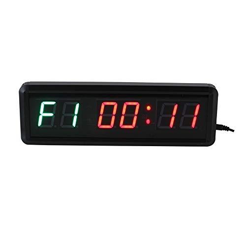 Countdown-klok aan de muur bevestigde grote ziekenhuistimer 1,5 inch fitness trainingstimer multifunctionele kantoor-real-timer countdown / timer met afstandsbediening 28 x 9 x 3,5 cm multifunctionele tijdschakelaar