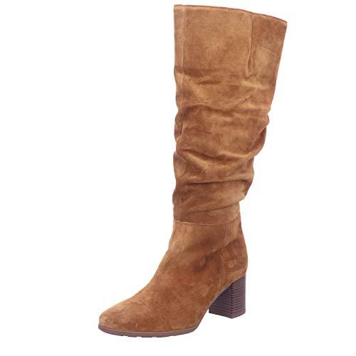 Gabor Damen Stiefel, Frauen Elegante Stiefel,Comfort-Mehrweite, Boots lederstiefel langschaftstiefel reißverschluss,Camel (Micro),37 EU / 4 UK