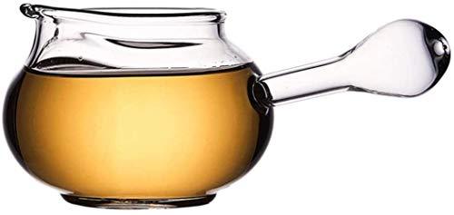 GAOLILI Teekanne Wasserkocher Teekanne Cup Teekanne Messe Glass Cup Seitengriff Transparent Haushalt verdickte Tee Hitzebeständige Zubehör 300ml