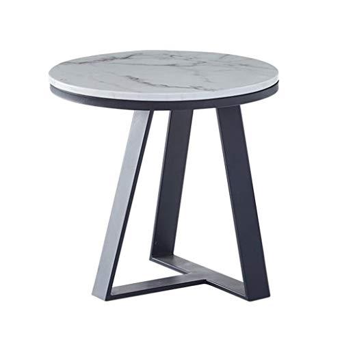 GJHBFUK salontafel, bijzettafel, salontafel, salontafel, rond, industriële eindplaat 40/50 cm diameter, kleine en ronde eettafel, tafellamp