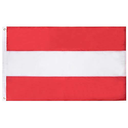 Lixure Österreich Flagge/Fahne 90x150cm Top Qualität Europa Länder Nationalflaggen - Durable 210D Nylon Draußen/Drinnen Dekoration Flagge MEHRWEG