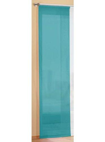 Gardinenbox Preisgünstiger Flächenvorhang Schiebegardine, transparent, unifarben, mit Zubehör, 245x60, Türkis, 85589