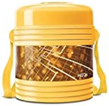 Milton Vector Deluxe 2 Plastic Leak Lock Tiffin Box Set, 3-Pieces, Yellow
