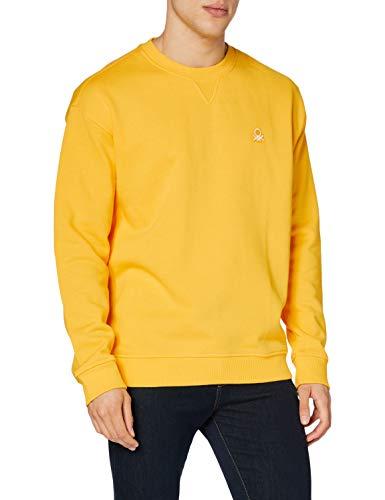 United Colors of Benetton Maglia G/c M/l Sudadera, Hombre, Amarillo (Lemon Chrome 0t5), L