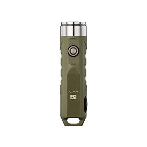 RovyVon Linterna LED Recargable,EDC Mini Linterna,Flashlight LED,Para Ciclismo Cámping,Hiking(A1 Verde)